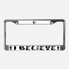 Bigfoot on bicycle License Plate Frame