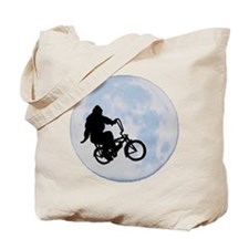 Bigfoot on bicycle Tote Bag