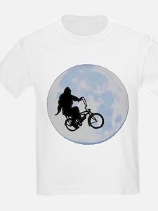 Bigfoot on bicycle T-Shirt