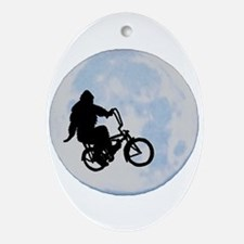 Bigfoot on bicycle Ornament (Oval)