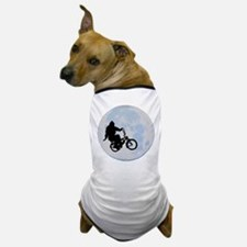 Bigfoot on bicycle Dog T-Shirt