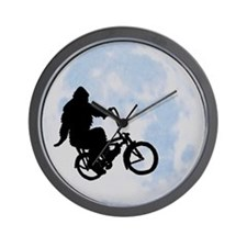 Bigfoot on bicycle Wall Clock