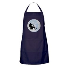 Bigfoot on bicycle Apron (dark)