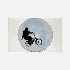 Bigfoot on bicycle Rectangle Magnet