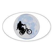 Bigfoot on bicycle Decal