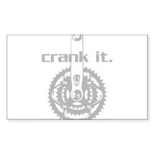 CRANK IT CYCLING Oval Decal