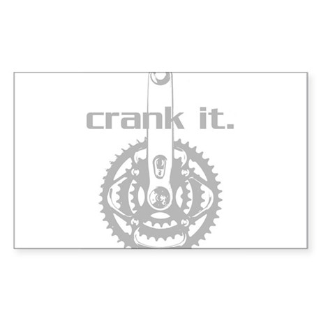 CRANK IT CYCLING Oval Sticker