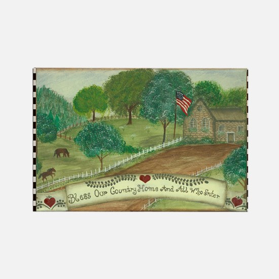 Bless Our Country Home Rectangle Magnet