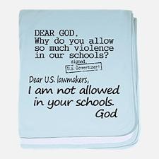 Dear God baby blanket