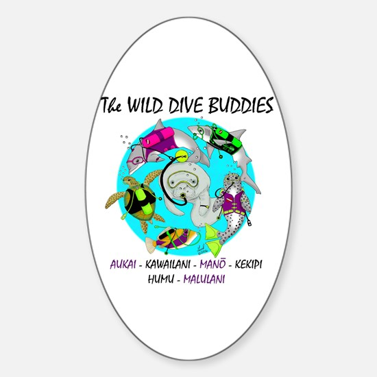 Wild Dive Buddies Oval Decal