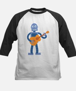 Guitar Robot Kids Baseball Jersey