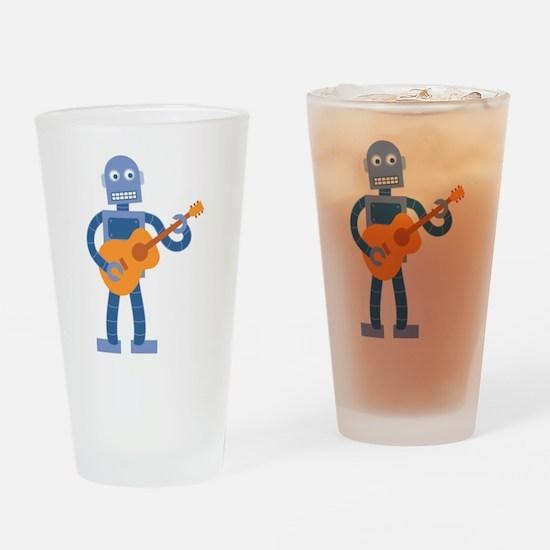 Guitar Robot Drinking Glass