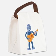 Guitar Robot Canvas Lunch Bag