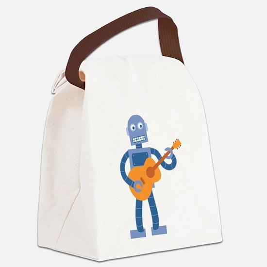 Guitar Robot Canvas Lunch Bag