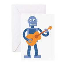 Guitar Robot Greeting Cards (Pk of 10)