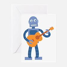Guitar Robot Greeting Cards (Pk of 10)