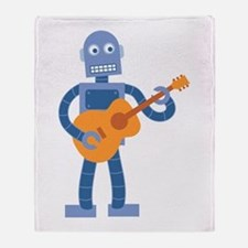 Guitar Robot Throw Blanket