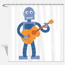 Guitar Robot Shower Curtain