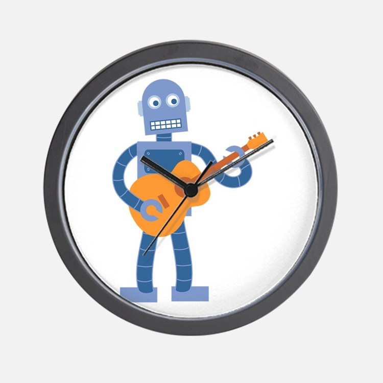 Guitar Robot Wall Clock