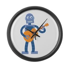 Guitar Robot Large Wall Clock