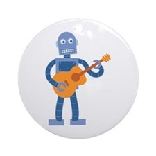Guitar Robot Ornament (Round)