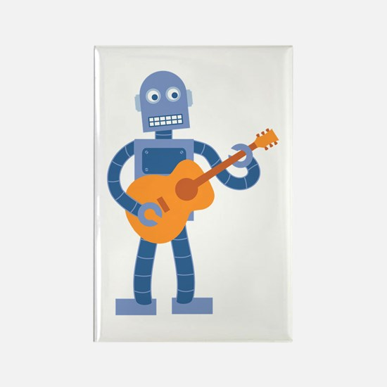 Guitar Robot Rectangle Magnet