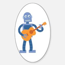 Guitar Robot Sticker (Oval)