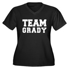 TEAM GRADY Women's Plus Size V-Neck Dark T-Shirt