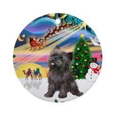 Cool Cairn terrier dog lover Ornament (Round)