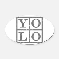 YOLO Oval Car Magnet