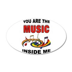 MUSIC 35x21 Oval Wall Decal