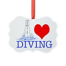 Cute Mens diving Ornament