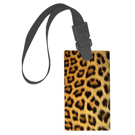 Leopard print Large Luggage Tag