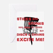 Discs and Chains Excite Me Greeting Card
