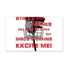 Discs and Chains Excite Me Wall Decal