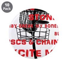 """Discs and Chains Excite Me 3.5"""" Button (10 pack)"""