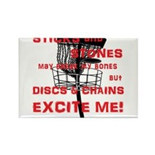 Discs and Chains Excite Me Rectangle Magnet