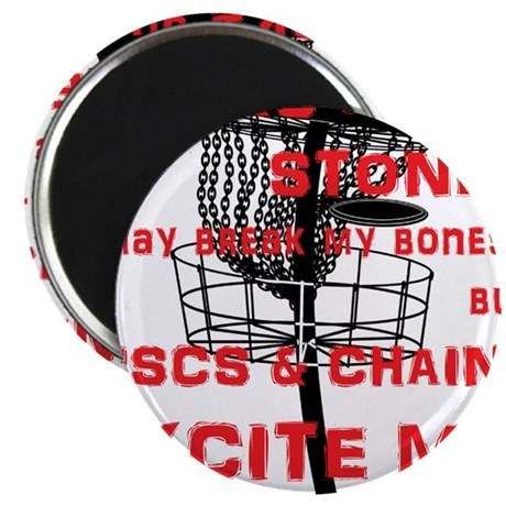 Discs and Chains Excite Me Magnet