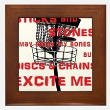 Discs and Chains Excite Me Framed Tile