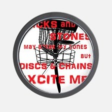 Discs and Chains Excite Me Wall Clock
