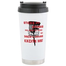 Discs and Chains Excite Me Travel Mug