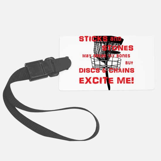Discs and Chains Excite Me Luggage Tag