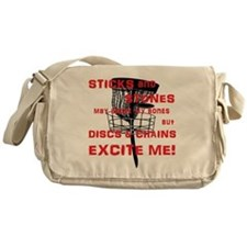 Discs and Chains Excite Me Messenger Bag