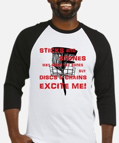 Discs and Chains Excite Me Baseball Jersey