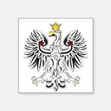 "Polish eagle Square Sticker 3"" x 3"""