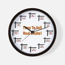 Real Estate Agent Clock