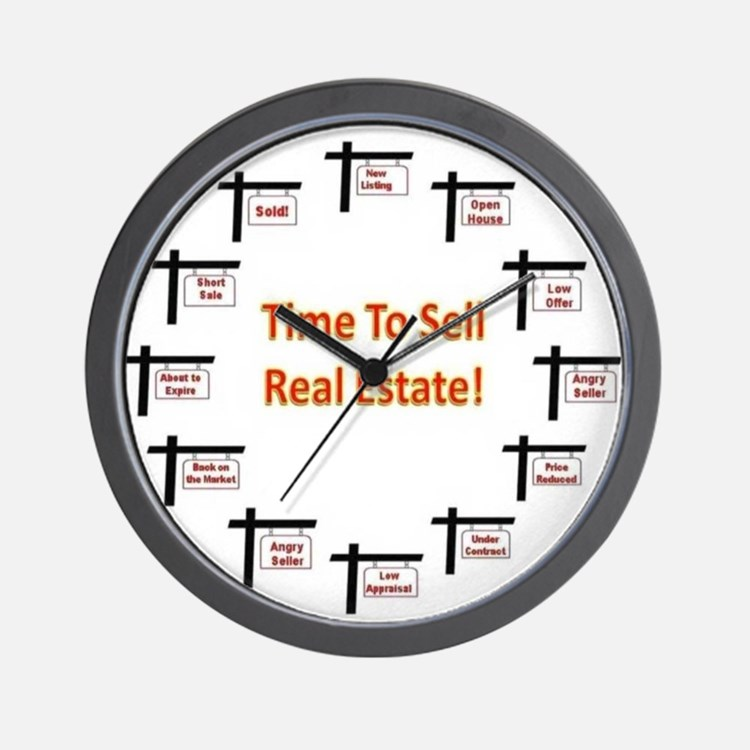 Real Estate Agent Clock