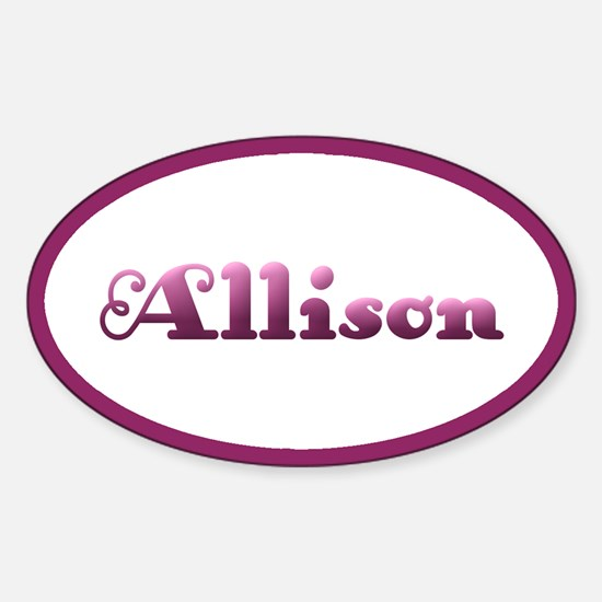 Allison: Pink Oval Oval Decal