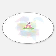 Pink Panda Oval Decal