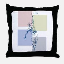 SketchySky with Blocks Throw Pillow